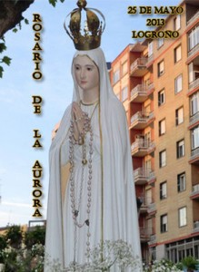 Cartel Rosario de la Aurora Logroño 2013
