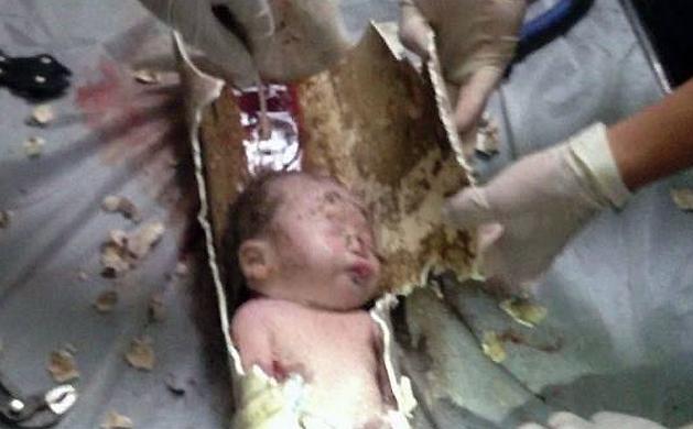 Niño chino rescatado